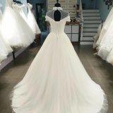 Hing Muffen-Spitzeapplique-Hochzeits-Kleid