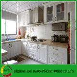 Gabinetes de cozinha modernos da membrana do PVC de Deisgn