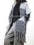 Акриловая повелительница Зима Тепл Сер Striped способа окаимила связанную шаль
