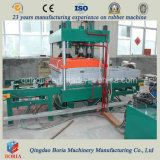 Baldosas de caucho Vulcanzing 80 toneladas de la máquina de prensa