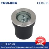 LED de iluminación exterior enterrada de 120mm resistente al agua IP67 SMD LED 6W luz subterránea
