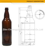 Umweltfreundliche bernsteinfarbige Bierflasche der Farben-650ml (1228)