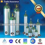 Cilindro de aluminio médico del cilindro de oxígeno del PUNTO M4/M6/M9/MD/Me con la válvula
