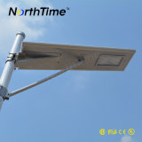 Novo tudo em uma luz de rua solar com controle e câmera do APP