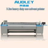 1.6M 1,8M 3,2 milhões 1440dpi Audley Banner Flex Solvente ecológico de Grande Formato Plotter Impressora com DX5/DX7 Cabeçote de Impressão