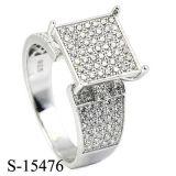 Mens di Hip Hop dei monili di stile 925 americani o anello d'argento Rhodiun. delle donne