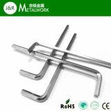 4mm 8mm Cr-v legierter Stahl-L-förmiger Hex Allen-Schlüssel