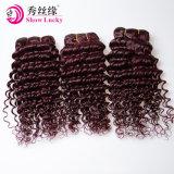 熱いBeauty 100%年のマレーシアHuman Unprocessed Color Red 99j Virgin Malaysian Hair Deep Wave Hair Bundles