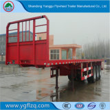 Transporte de carga 3 Fuhua/água peptonada tamponada de travagem ABS do eixo semi plana de aço carbono Carreta para venda