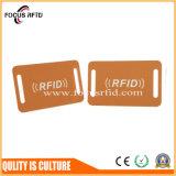 Kundenspezifische Form RFID Keytag mit Barcode, Loch und Keychain