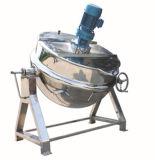 Calefacción de vapor cocinar hervidor de agua forrados de inclinación de 200 litros hervidor de agua