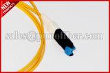 gele Jasje van de Vlechten van de Vezel van 0.9mm VF45 Singlemode Optische