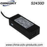 24VDC 3A 탁상용 유형 감시 카메라 전력 공급 (S2430D)
