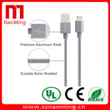 Andoid를 위한 마이크로 나일론 끈목 USB 케이블, USB 충전기 케이블
