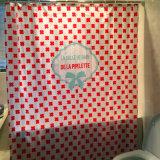 빨간 환경 작풍 Bathroomred를 위한 100%년 폴리에스테 방수 샤워 커튼