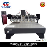 다중 헤드 편평한 목공 CNC 기계장치 조각 기계
