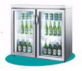 Double Glass Door Beer Refrigerador de exposição de bebidas frias