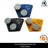 La Ronda de molienda de cemento de trapezoide segmentada de diamantes de metal