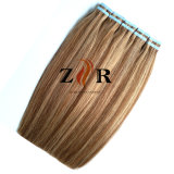 Trama invisível européia do cabelo da fita da cor de Ombre para a extensão do cabelo