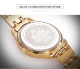 Het Horloge van het Kwarts van de Diamanten van de Manier van de bloem voor Merknaam Belbi van de Polshorloges van de Luxe van de Beweging van Japan van de Batterij van het Kwarts van de Dame Roestvrij staal de Waterdichte