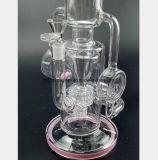 een gebroken Waterpijp van het Glas met een Gekleurde Rokende Pijp van de Kaart