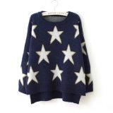 冬の流行ポリエステル堅いO首の女性の開始のセーターの安い多色刷りのセーター