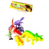 Le dinosaur vif polychrome exquis multicolore agréable joue 2017