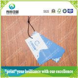 Alta calidad Logo Personalizado Papel Impreso Etiqueta colgante de la ropa