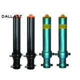 ダンプトラックまたはトレーラーの工場製造業のための3/4/5つの段階の単動水圧シリンダ