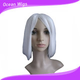 Parrucca bianca dello Synthetic di Short di colore