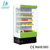 Il supermercato ha refrigerato il congelatore verticale aperto della visualizzazione di Multideck per frutta/verdura