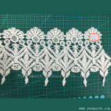 Bordado branco Lace acessórios de vestuário têxtil de tecido de algodão solúvel em água