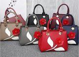 De Manier van de Handtas van de Bloem van de Zak van de Vrouwen van de Handtas van het Leer van Pu Dame Shoulder Handbag 2018 (WDL0595)