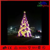 H: 5m Assembled Christmas Ball Motif Lighting Artificial Tree für Shopping Center LED Street Lighting