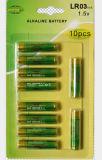 Batteria alcalina della pila a secco di telecomando 1.5V aa Lr6 AAA Lr03 della TV
