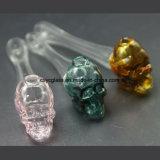 Tubo de tabaco de cristal de tubo de agua de la hornilla de petróleo del cráneo colorido
