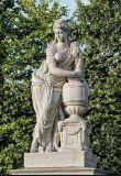 Signora di pietra bianca Sculpture della statua della ragazza del giardino di disegno unico