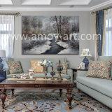 Paysage de forêt enneigée peintures d'huile sur toile pour la maison ou bureau de la décoration