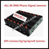 3.6g/5g WiFi 방해기 GPS WiFi Lojack VHF-UHF/RF 원격 제어 315/433MHz 차단제 또는 셀룰라 전화 2g 34G 4G 방해기