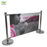 Malla interior y exterior barreras Cafe banner personalizado con imprimir banners