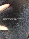Cappotto di pelliccia reale lungo grigio scuro di riserva della mano protettiva del visone per l'abito delle donne di modo (H1918)