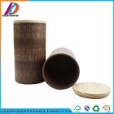 Tube de papier rond biodégradable pour le thé avec le couvercle en bois