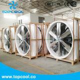Gfrp ventilateur d'entraînement de courroie de ventilateur de cône de mur de ventilateur d'extraction de 55 pouces avec l'obturateur