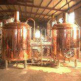 中国製7bblクラフトビールを作る赤い銅の醸造装置