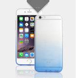 Caja del teléfono móvil del gradiente TPU de la serie del arco iris para el iPhone