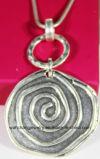 Form-silberne antike silberne grosse runde hängende Schlange-Ketten-Halskette
