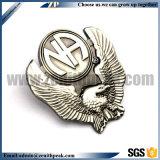 Distintivo inciso del trofeo del campione dell'oggetto d'antiquariato del metallo di marchio