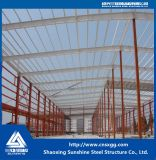 Gruppo di lavoro chiaro prefabbricato della struttura d'acciaio di basso costo