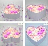 Rectángulo rígido de la dimensión de una variable hecha a mano del corazón para el empaquetado de /Rose de la flor