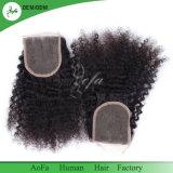 Heißes Verkaufs-rohes Jungfrau-brasilianisches Haar-Schweizer Spitze-Schliessen